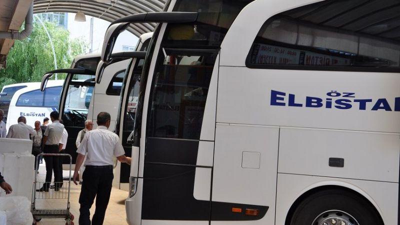 Elbistan'a gelen otobüs biletleri tükendi