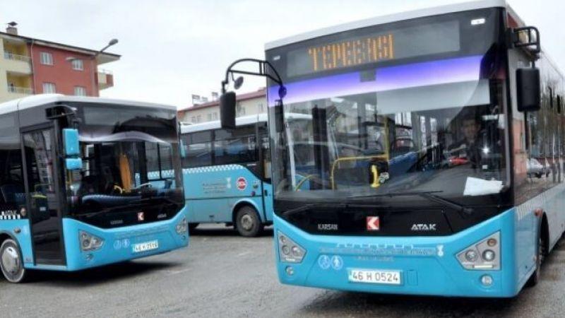 Elbistan'da belediye otobüsleri bayramda ücretsiz