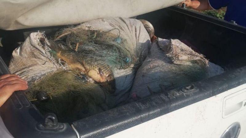 Kaçak balık avlayan 2 kişiye bin 635 TL para cezası