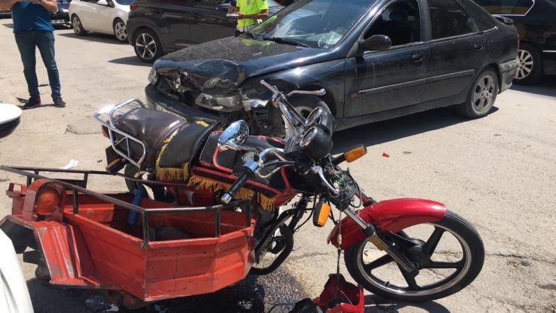 Elbistan'da çok feci kaza: Sürücünün bacağı koptu