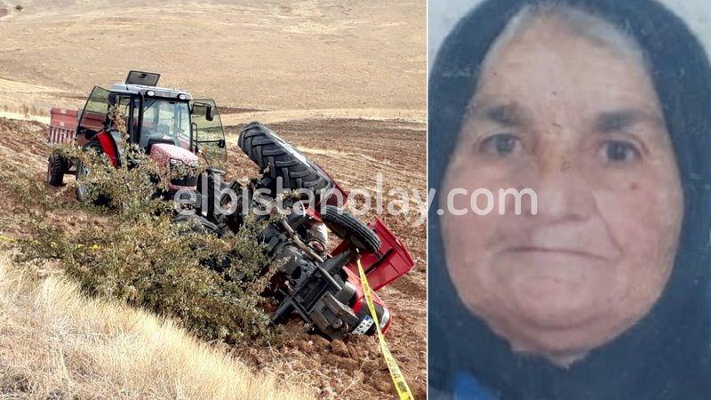 Devrilen traktörün altında kalan kadın hayatını kaybetti