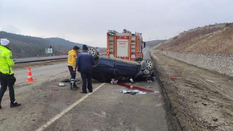 Gurbetçi aile Elbistan yolunda kaza yaptı: 1 ölü 1 yaralı