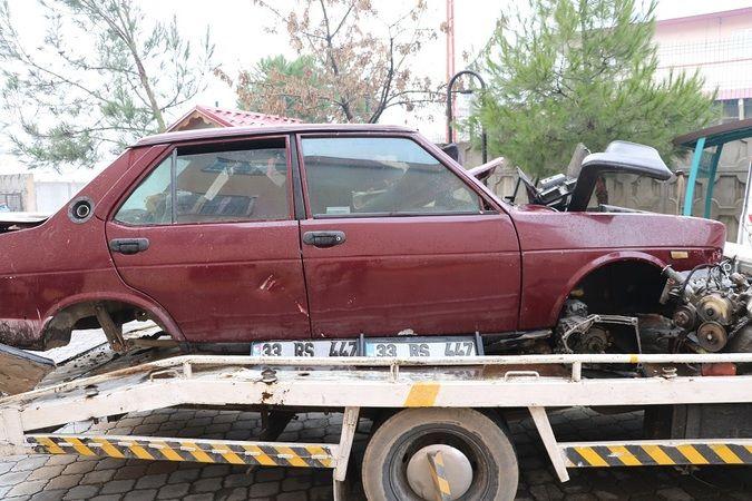 Çaldığı otomobilin motorunu kendi aracına taktı
