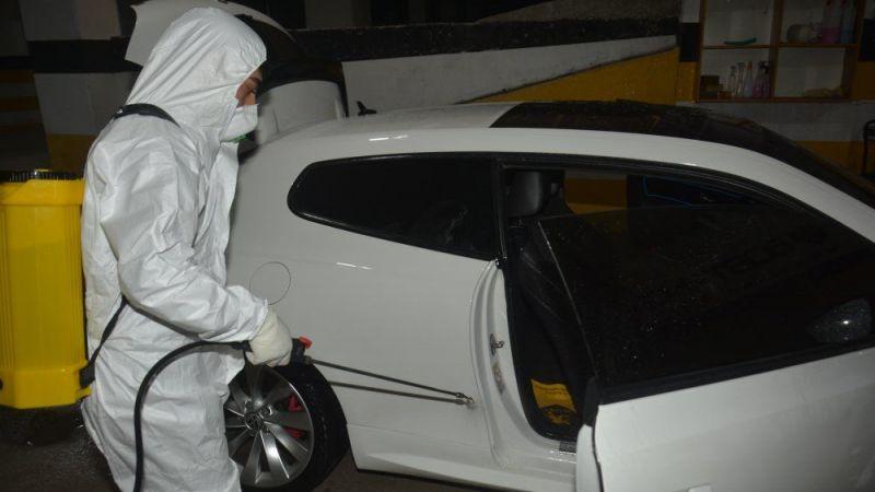 Elbistan'da ücretsiz otomobil dezenfeksiyonu!