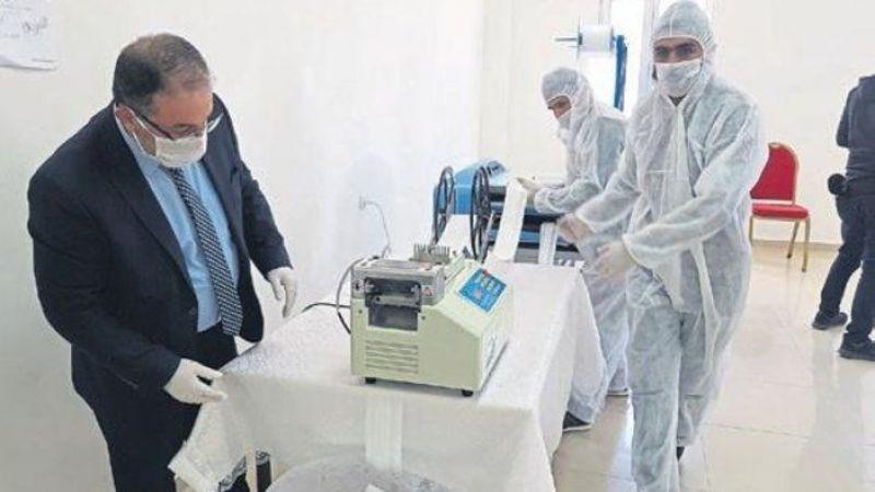 Türkiye'de ilk! Afşin Belediyesi maske üretip bedava dağıtıyor