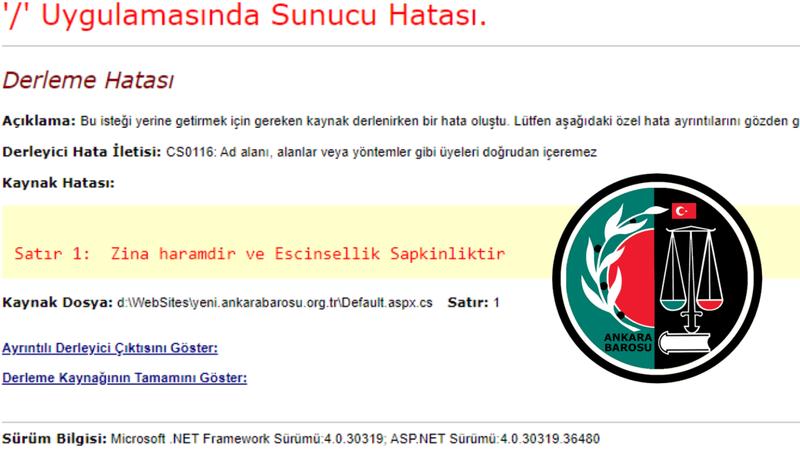 """Ankara Barosu'nun web sitesi hacklendi! """"Zina haramdir ve Escinsellik Sapkinliktir"""""""