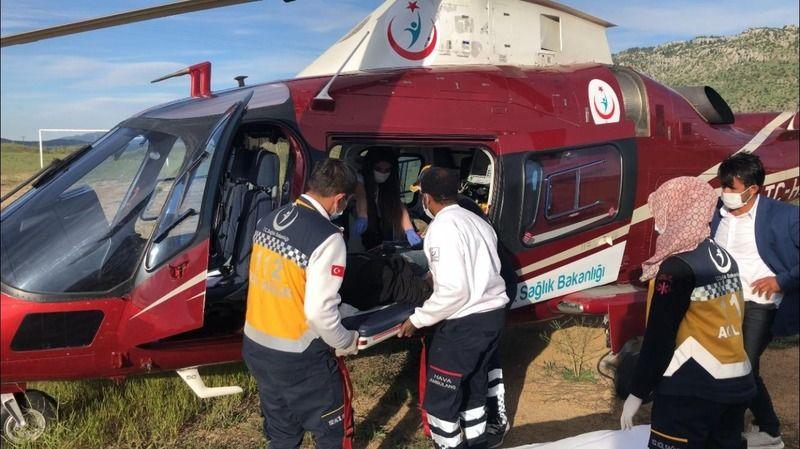Yaylada rahatsızlanan çoban ambulans helikopterle hastaneye kaldırıldı