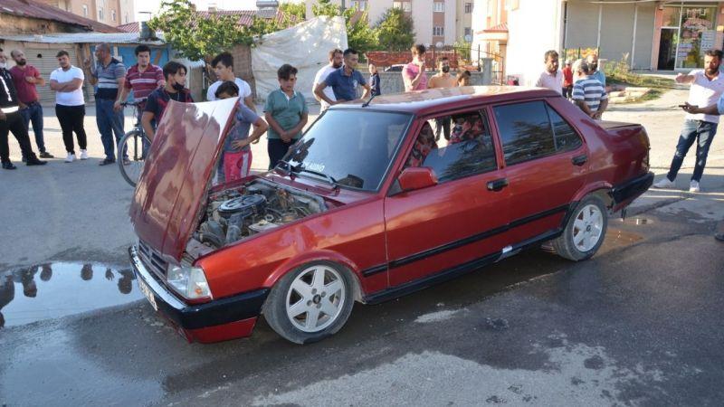 Elbistan'da LPG'li otomobilde patlama: 3 yaralı
