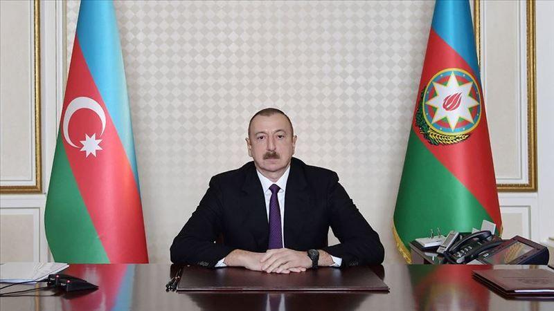Azerbaycan Cumhurbaşkanı Aliyev: Madagiz'de Azerbaycan bayrağı dikildi