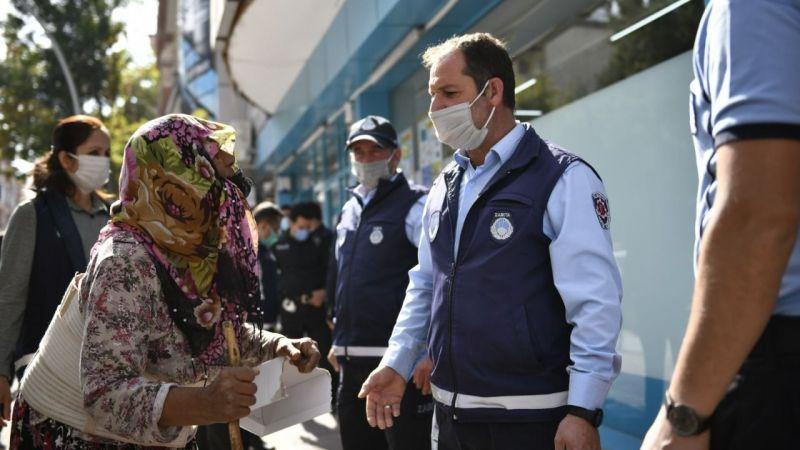 Elbistan'da adım başı vatandaşın önünü kesen dilencilere denetim