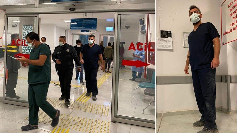 Elbistan'da filyasyon ekibindeki doktora saldırı