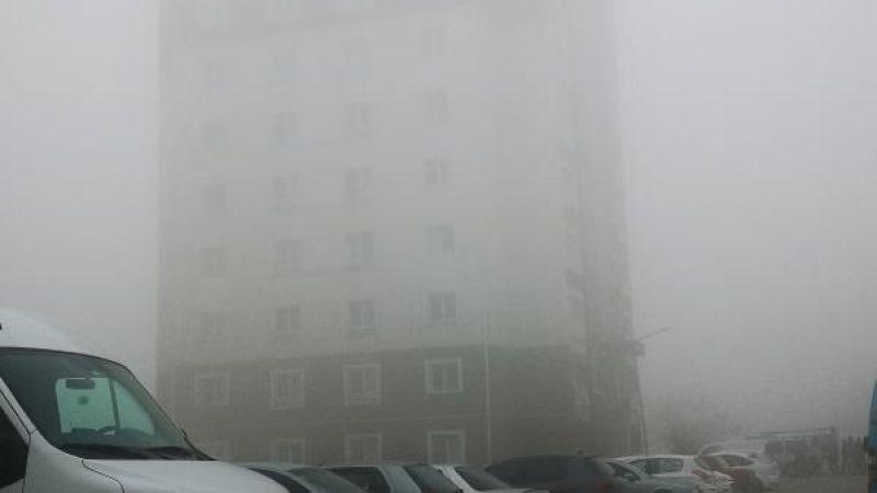 Elbistan'da yoğun sis etkili oluyor