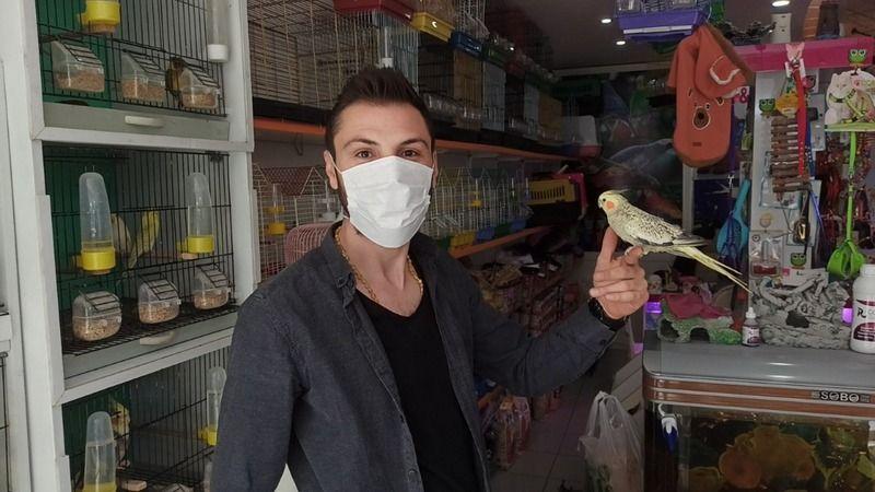 Elbistan'da muhabbet kuşu ve akvaryum balığı satışı arttı