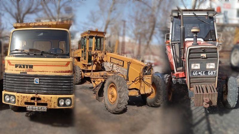 Nurhak Belediyesi iş makinelerini açık artırma ile satıyor