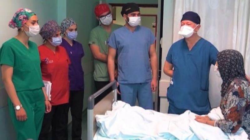 Hamile olduğunu zanneden kadının karnından 8 kiloluk kitle çıktı