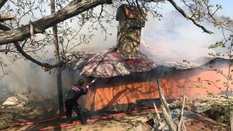 Evde çıkan yangında 80 bin TL kül oldu!