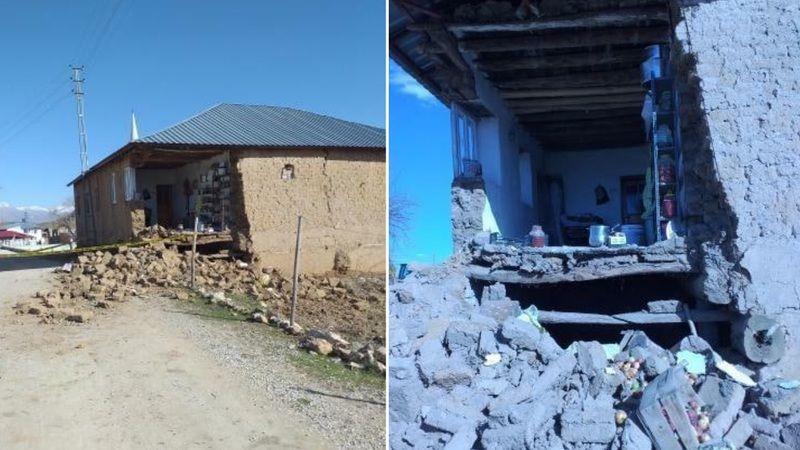 Afşin'de evi yıkılan aile yetkililerden yardım bekliyor