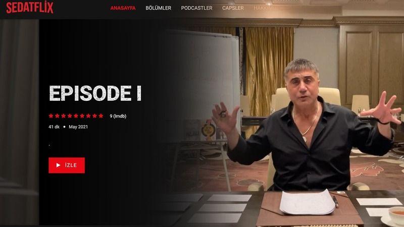 Sedat Peker'e Netflix benzeri site yapıldı: Sedatflix