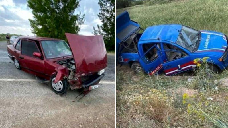 Afşin Elbistan yolunda jandarma aracıyla otomobil çarpıştı: 4'ü asker 6 yaralı