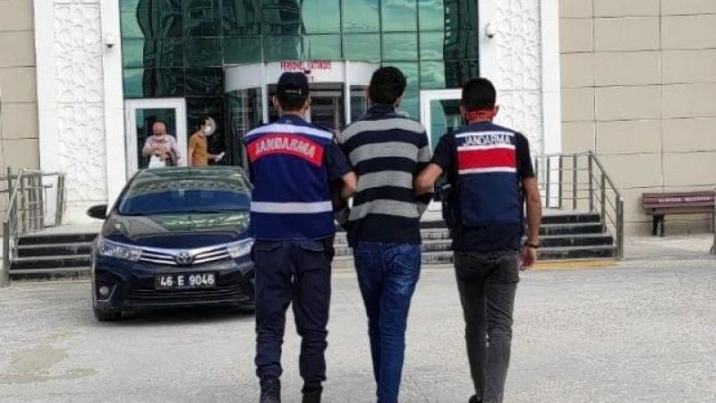 Elbistan'da 21 yıl hapis cezası ile aranan zanlı JASAT ekiplerince yakalandı