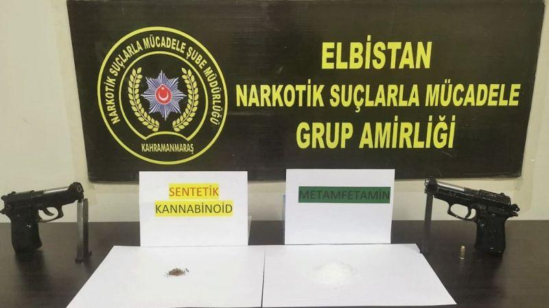 Elbistan'da uyuşturucu ticareti ve silah kaçakçılığı yapan 2 kişi tutuklandı