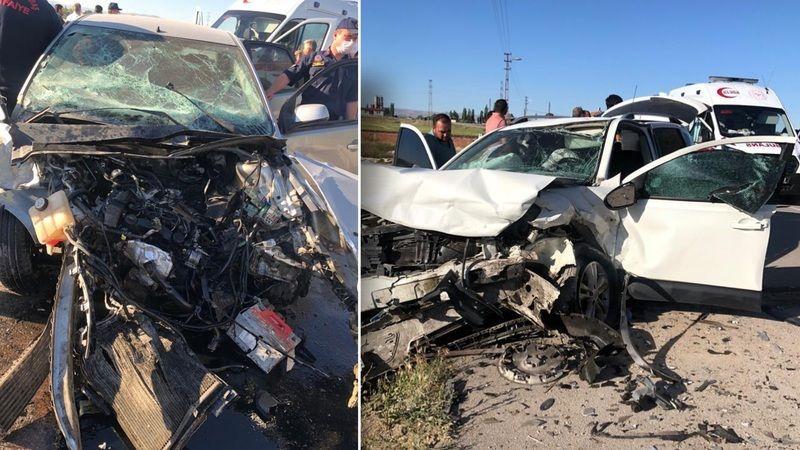 Elbistan'da çok feci kaza: 1 ölü 2 yaralı