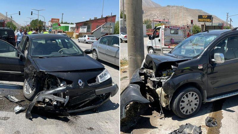 Elbistan'da trafik kazası: 5 kişi yaralandı