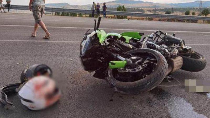 Korkunç olay! Motosiklet kazasında kolu koptu