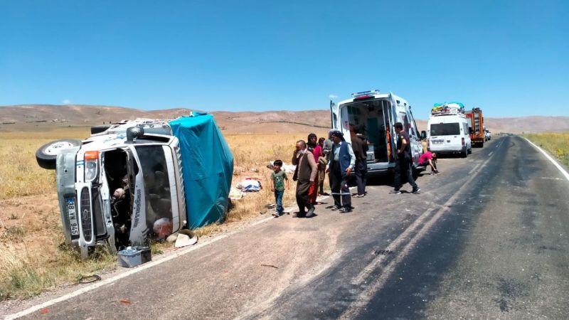 Elbistan Darende yolunda kaza: 7 yaralı