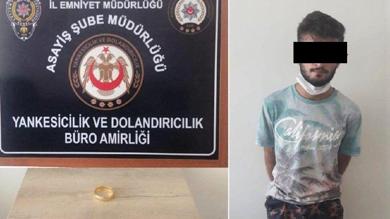 Altınları alıp kaçan hırsız camide imam kıyafeti giyerken yakalandı