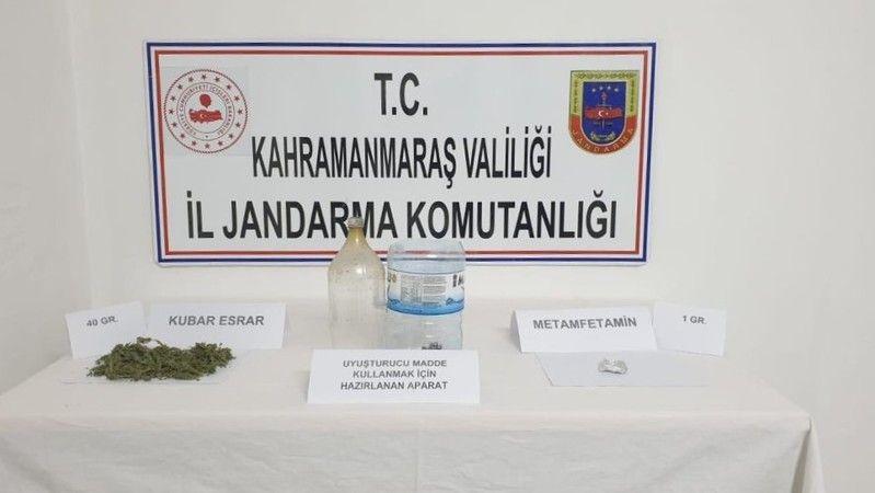 Afşin'de uyuşturucu operasyonu: 5 gözaltı