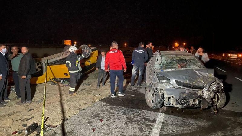 Elbistan'da zincirleme trafik kazası: 2'si ağır 7 kişi yaralandı