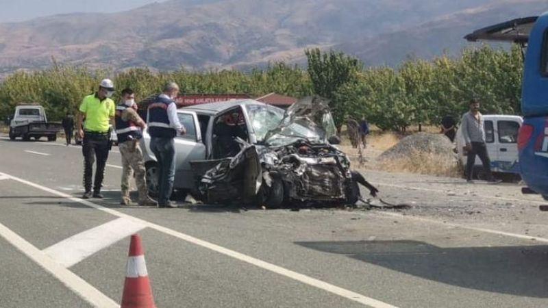 Malatya'da korkunç kaza: 5 ölü, 3 yaralı