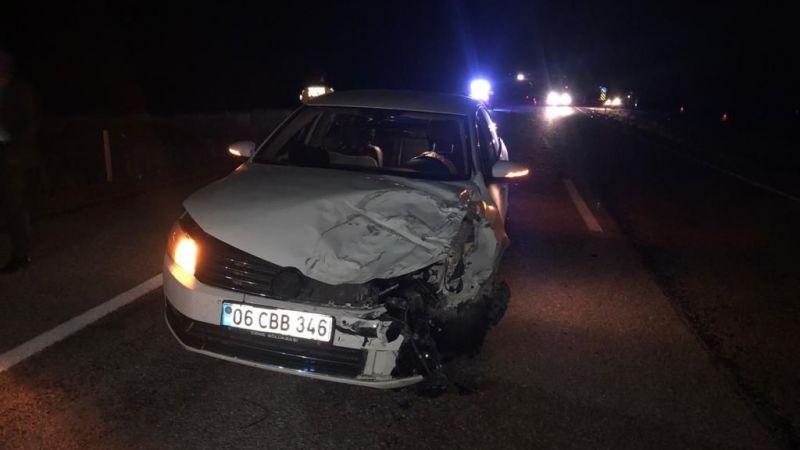 MHP Elbistan ilçe başkanı ve yönetimi kaza geçirdi: 4 yaralı