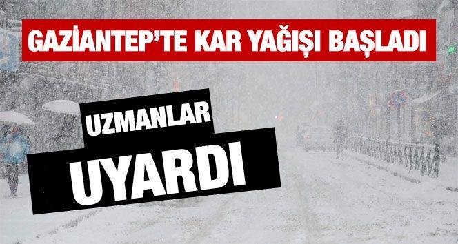 Gaziantep'te Yoğun Kar Yağışı Başladı...