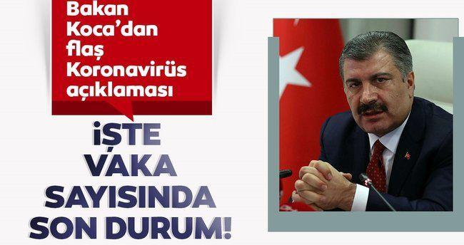 Son dakika… Sağlık Bakanlığı, Türkiye'deki son corona vakaları ve ölümleri açıkladı
