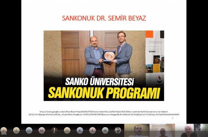 SANKO ÜNİVERSİTESİ SANAL KONFERANSLARA DEVAM EDİYOR