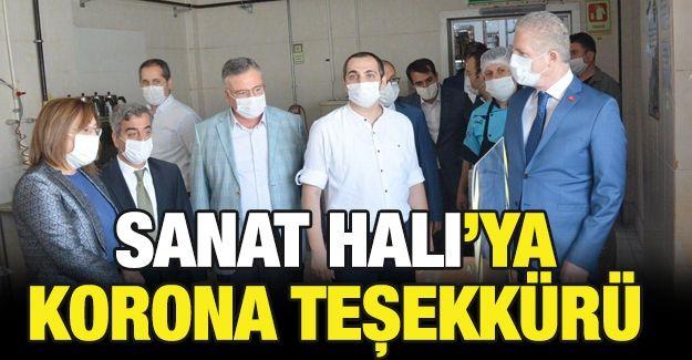 SANAT HALI'YA KORONA TEŞEKKÜRÜ