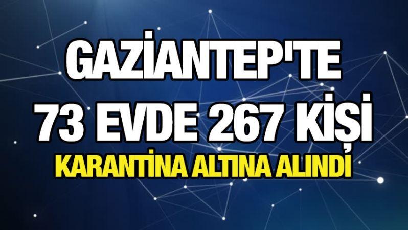 Gaziantep'te 73 evde 267 kişi karantina altına alındı