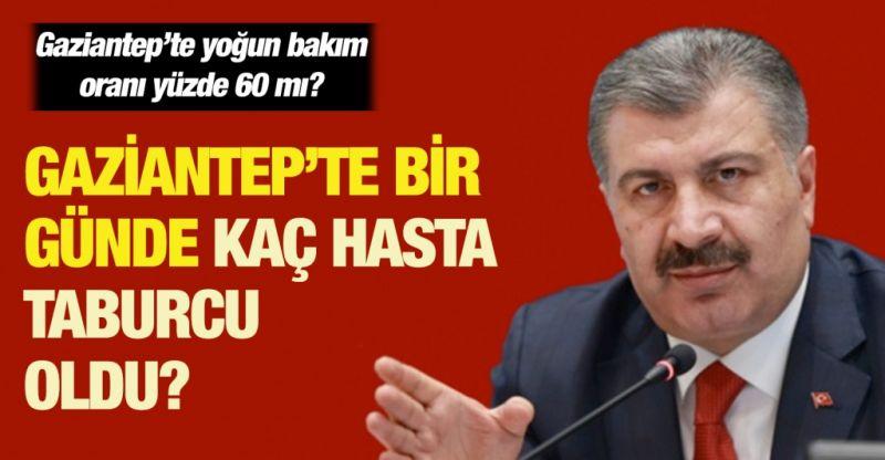 Gaziantep'te yoğun bakım oranı yüzde 60 mı?... Gaziantep'te bir günde kaç hasta taburcu oldu?