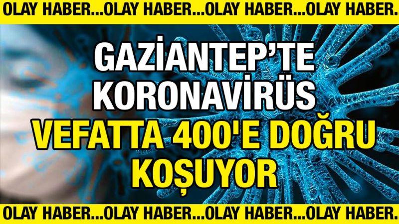 Gaziantep'te koronavirüs vefatta 400'e doğru koşuyor