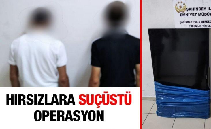 Polislerden hırsızlara suçüstü operasyon