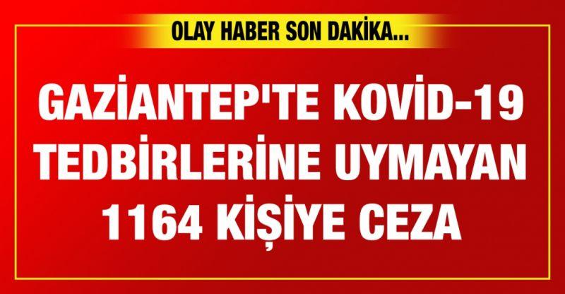 Gaziantep'te Kovid-19 tedbirlerine uymayan 1164 kişiye ceza