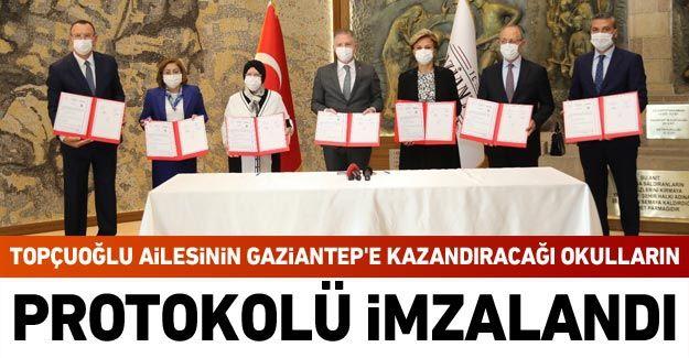 Topçuoğlu ailesinin Gaziantep'e kazandıracağı okulların protokolü imzalandı