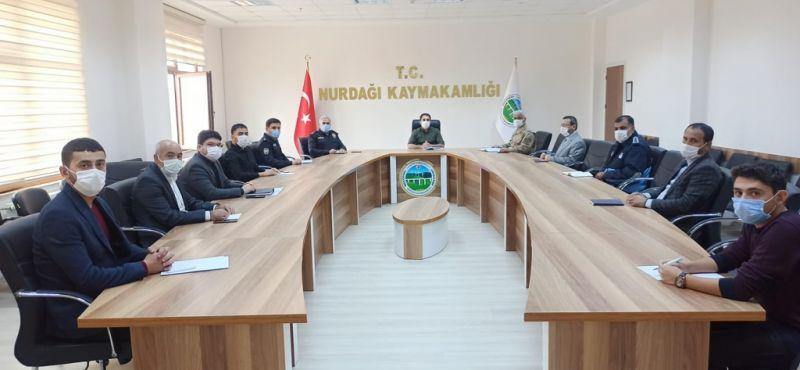 Kovid-19 denetim ekipleriyle toplantı