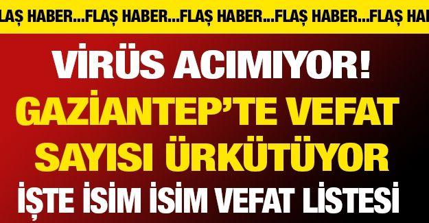 Virüs acımıyor! Gaziantep'te vefat  sayısı ürkütüyor