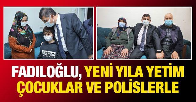 Başkan Rıdvan Fadıloğlu, yeni yıla yetim çocuklar ve polislerle girdi