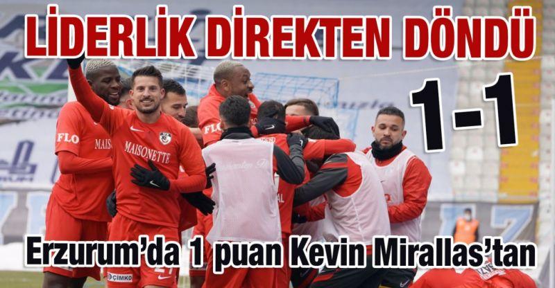 Erzurum'dan VAR ile 1 puana razı olduk. Gaziantep FK'nın yenilmezlik ünvanı devam ediyor. 1-1