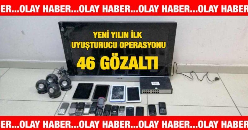 Gaziantep'te Yeni yılın ilk uyuşturucu operasyonu: 46 gözaltı