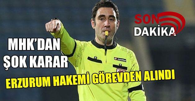 Gaziantep maçının hakemi görevden alındı